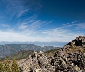 Виды с перевала Черная речка.