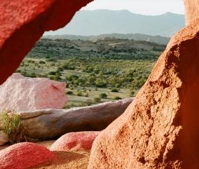 Цветные скалы.