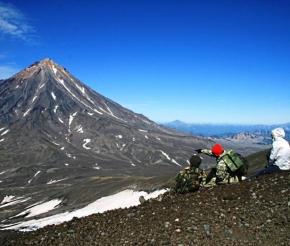 Вид на Авачинский вулкан