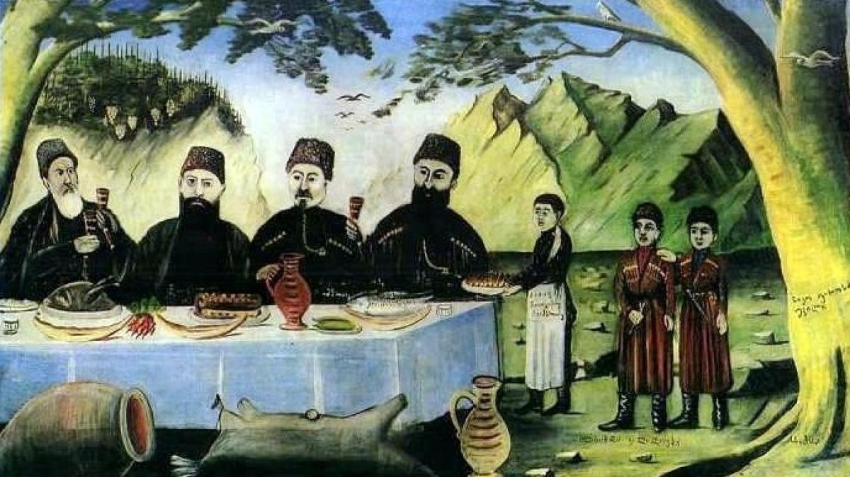 Картины Пиросмани. Фото нашего гида Ирины Пряничниковой