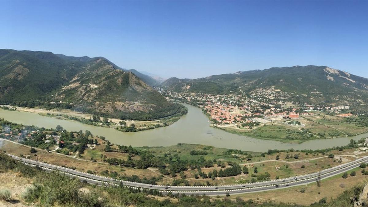 Панорама от монастыря Джвари