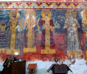 Монастырь Гелати. Фрески