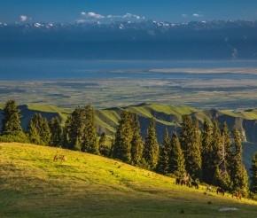 Вид на Иссык-Куль, фото Самарин Михаил