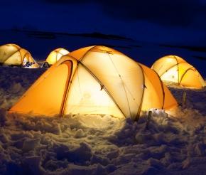 Ночевка на берегу Антарктиды