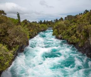 Водопад Хука, фото нашей туристки Татьяны Руновой