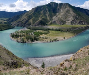 слияние рек Катуни и Чуи