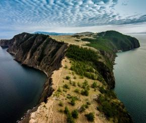 Вид на Ольхон с высоты птичьего полета, фото: Дмитрий Балакирев