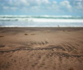 Знаменитый мелкий вулканический песок