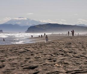 Хорошая погода на побережье Тихого океана. Правда, с погодой не всегда везет