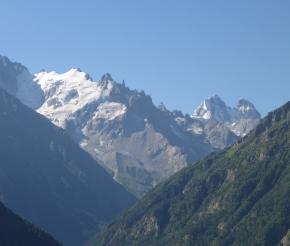Вид на горы Большого Кавказского хребта
