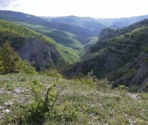 Вид Большого каньона Крыма с ТС Бойко
