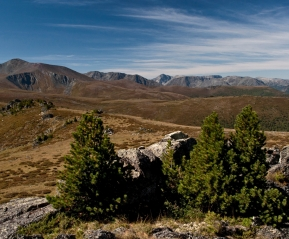 Вид с перевала Черная речка.
