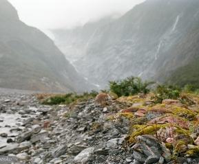Туманный пейзаж. Ледник Франса-Джозефа.