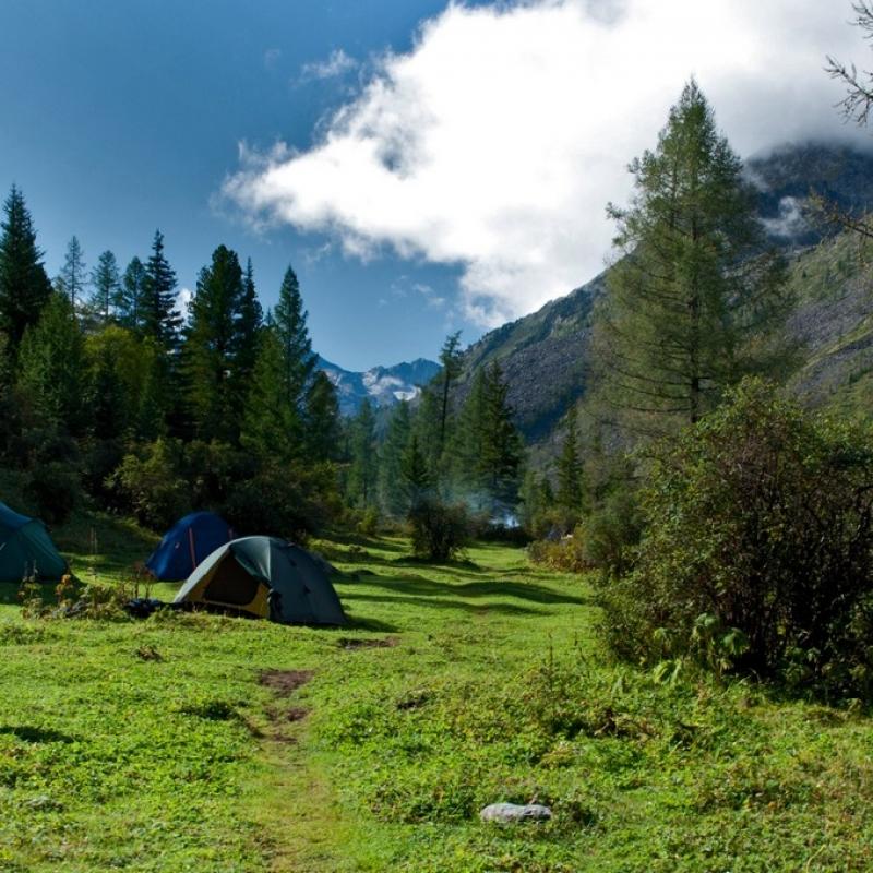 Лагерь рядом с кордоном.
