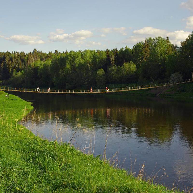 Подвесной мост через р. Москва. Фото нашего Странника Андрея Блохина