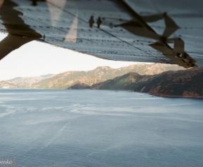 Под крылом самолета. Летим за китами.