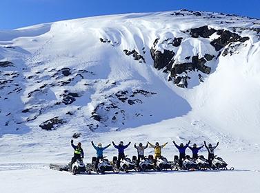 На снегоходах по Кольскому
