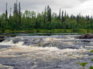 Экстремальный сплав по реке Уксунйоки